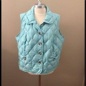 NWOT Talbots Woman Petites Teal Puffy Vest